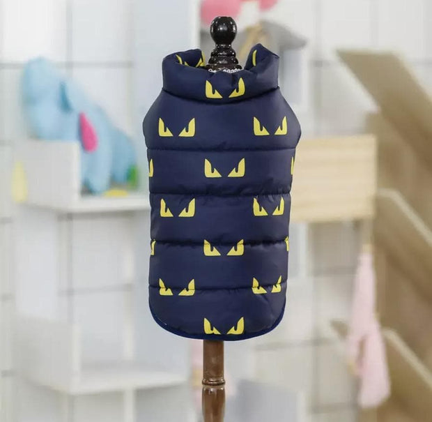 Pet Shirts - Yellow Dragon Eyes Winter Pet Jacket Puffer Vest