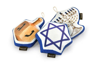 Pet Toys - Hanukkah 3-Pc Plush Dog Toy Set