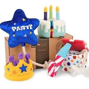 Pet Toys - Party Time - Raise The Woof Party Horn Plush Dog Toy