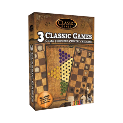 CLASSIC GAMES - 3 N 1 CHESS - CHECKERS - CHINESE CHECKERS