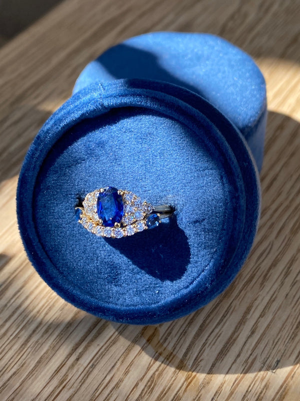 Custom Anniversary Ring - The Story of a Sapphire and Diamond Band