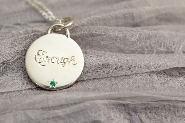 I Am Enough and the Power of a Mantra Necklace