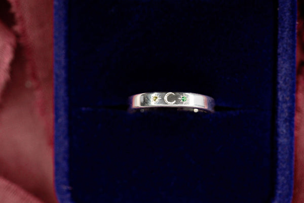 Custom Birthstone Ring for a Mother or Father - I Love You to the Moon and Back