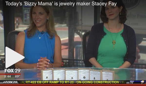 "Stacey Fay Designs featured on ""Bizzy Mama"" Segment on TV!"