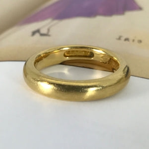 Antique 1921 22k gold wedding band