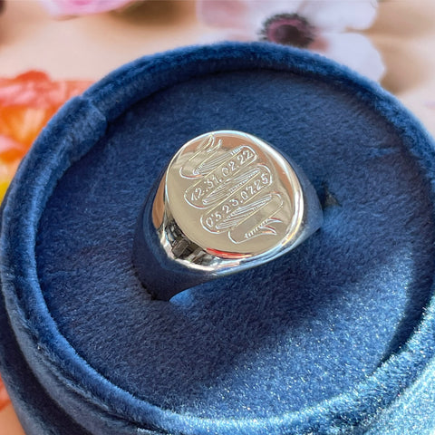 birthdate birthstone mother ring