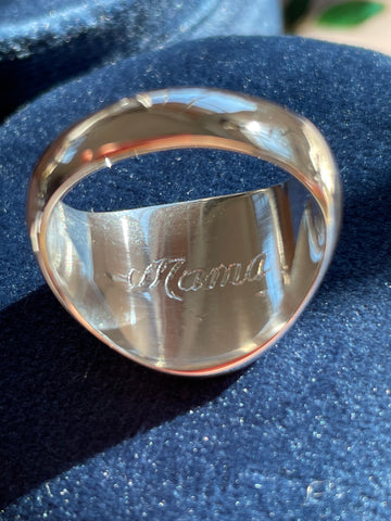 mama ring hand engraving
