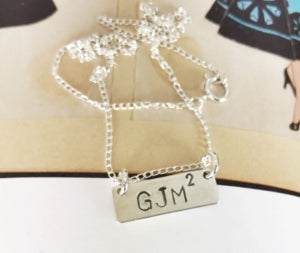 Custom stamped nameplate necklace