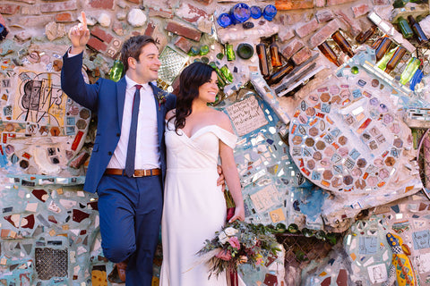 Philadelphia wedding at the magic gardens