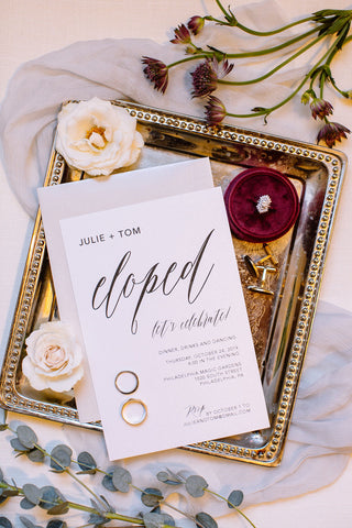 Philadelphia wedding invitations calligraphy