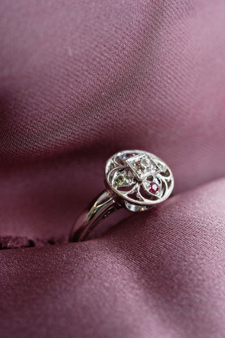 Personalized mother's ring with birthstones