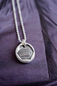 A letter soothes the pain of absence wax seal necklace