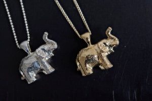 Elephant charm good luck necklace