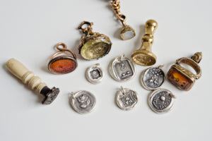 Antique wax seal jewelry