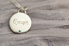 mantra necklace by Stacey Fay Designs