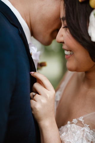 Asian Philadelphia wedding with vintage jewelry