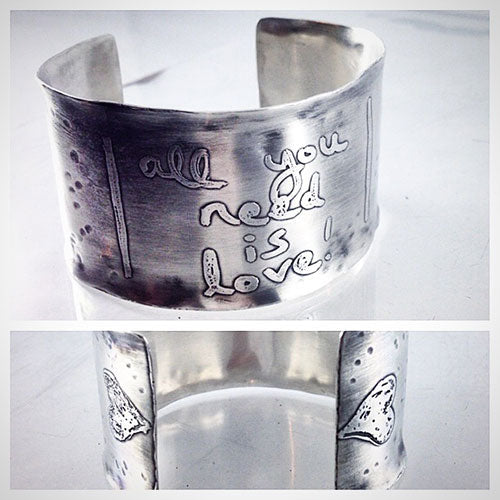 Piece for 88.5 WXPN Charity Auction - Etched Silver Cuff