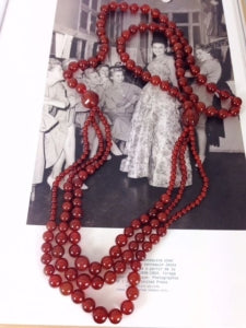 antique carnelian beaded necklace