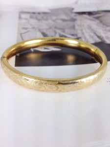 gold filled bangle hinged bracelet