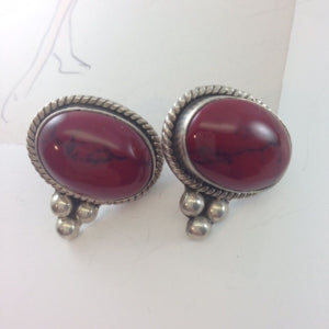 vintage jasper earrings