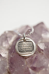 Acceptance and eternal love necklace.