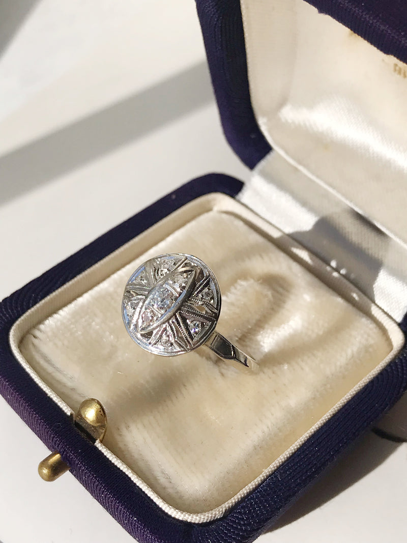 1920's Round Diamond Ring