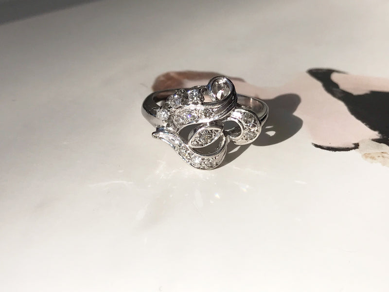 Deco Style Diamond Eye Ring