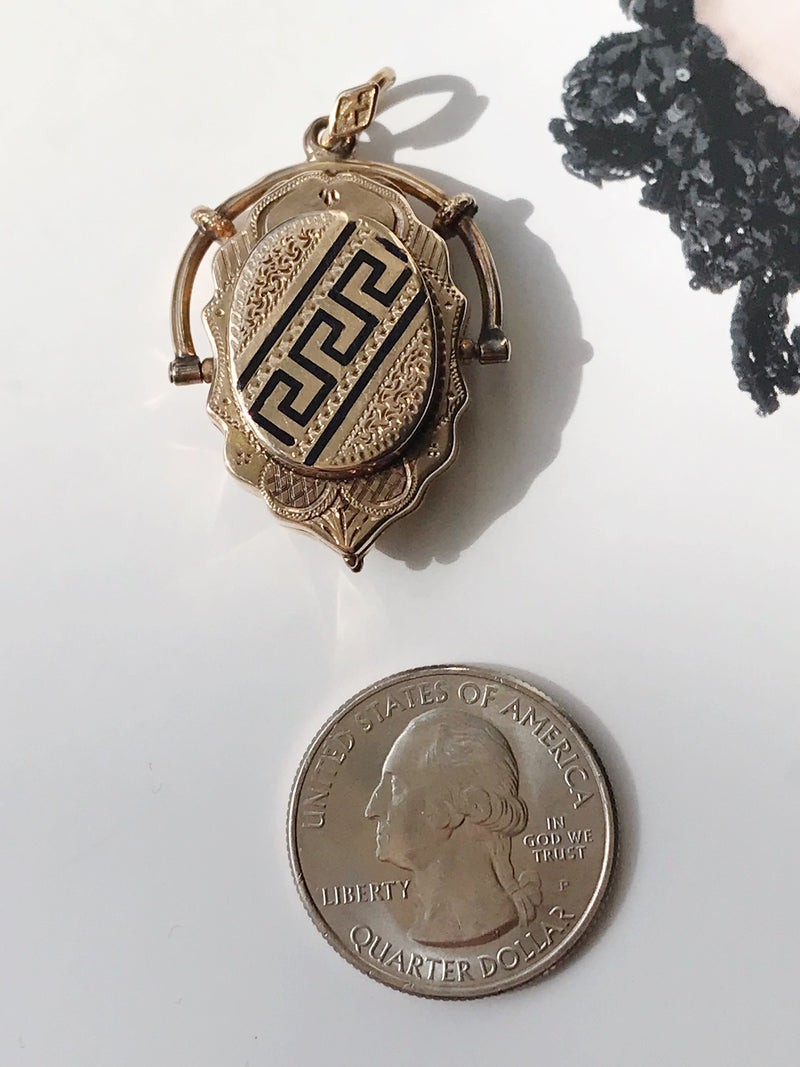 Victorian Gold Fob Locket