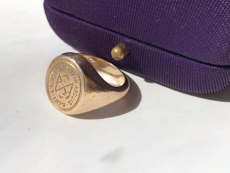 Chestnut Hill College 1960's Gold Signet Ring