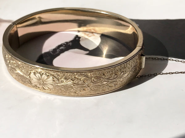Floral Gold Filled Bangle