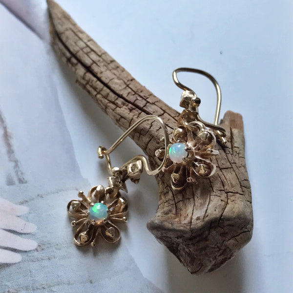 Victorian Revival Opal Earrings