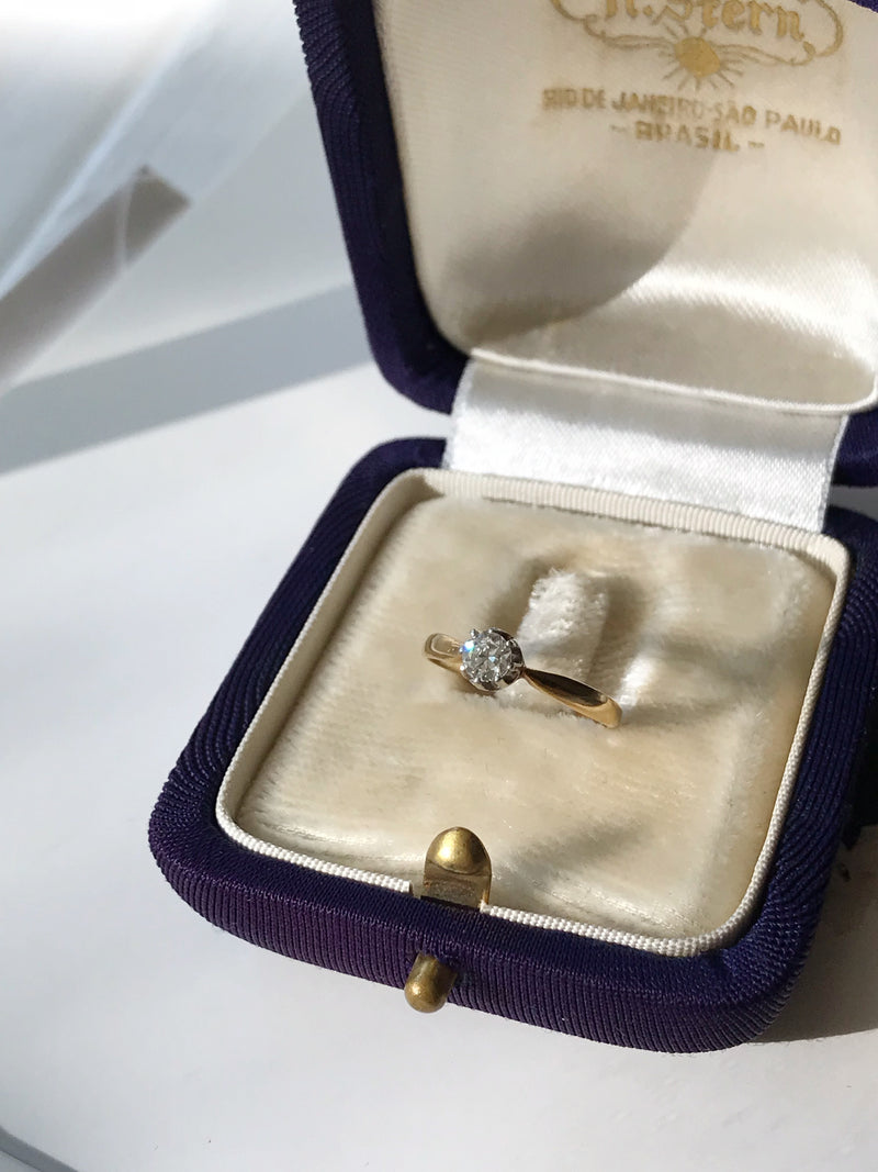 Antique Basket Setting Engagement Ring