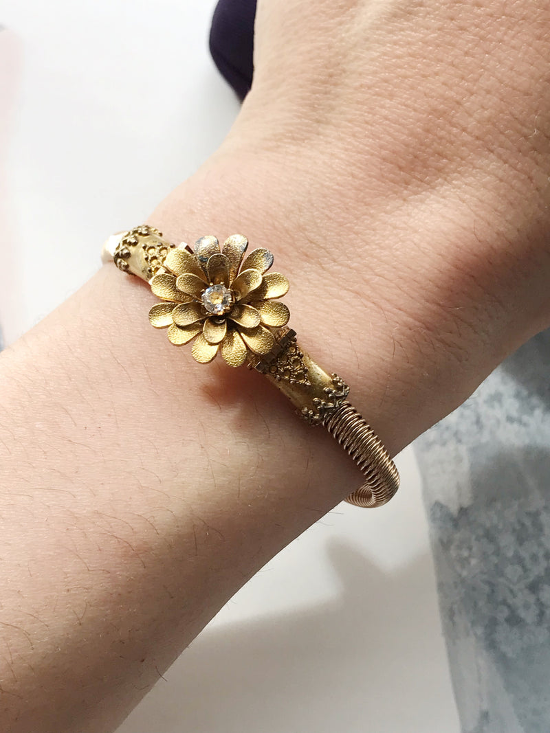 Victorian Gold Filled Flower Bracelet