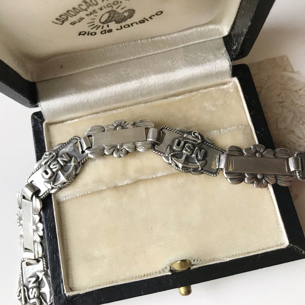 1940's US Navy Sweetheart Bracelet