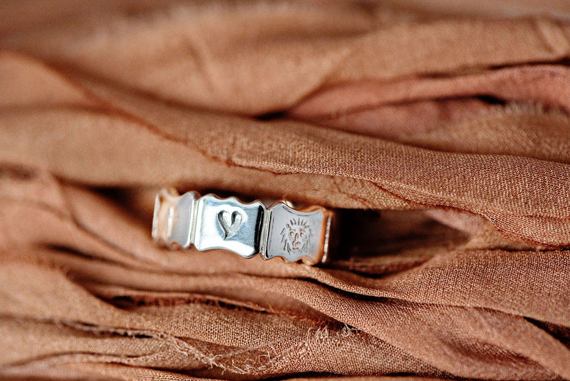 Mantra Ring in Sterling Silver