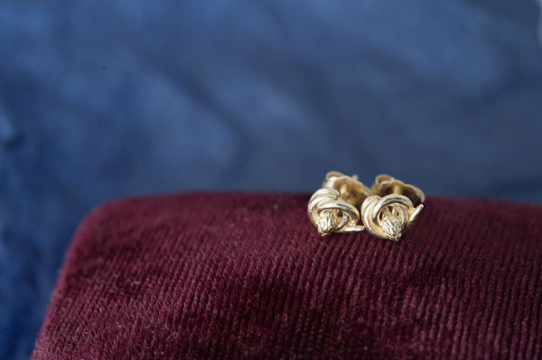 14k Gold Snake Stud Earrings