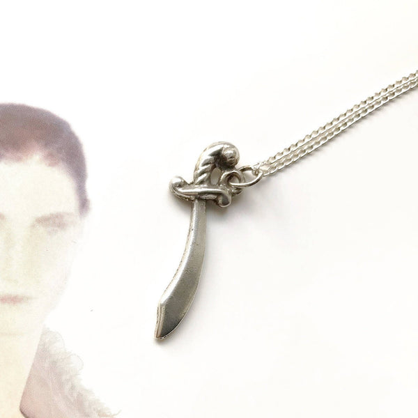 Vintage sword charm necklace | sterling silver vintage charm | gift for protection and strength | good luck charm | protective talisman