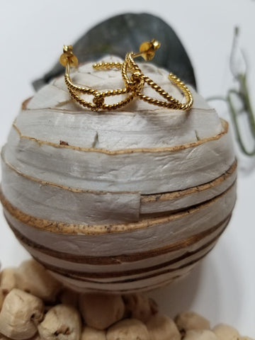 Indie Gold Vermeil Earrings_The Silver Root Fine Jewelry