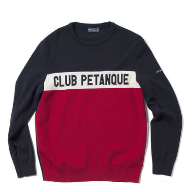 Pull Saint James + Club Pétanque - Tricolore