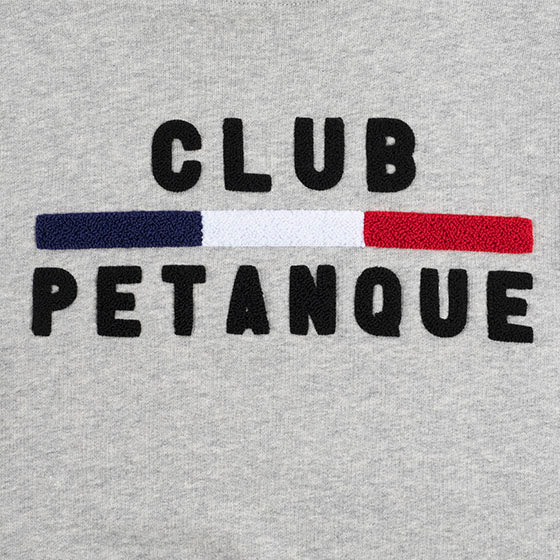 Sweat Club Pétanque - Sport Détente - Gris Chiné