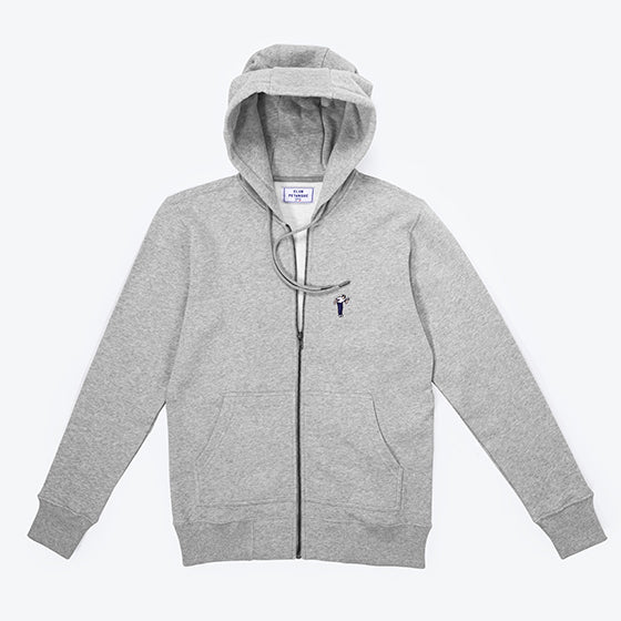 Sweat Zippé Pétancoeur - Gris Chiné