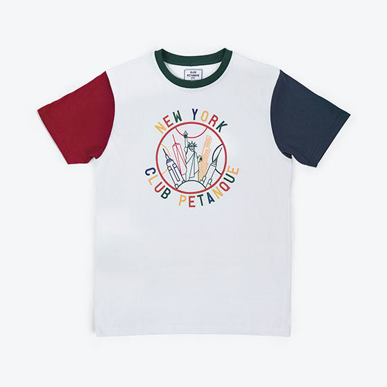 T-shirt New York Tricolore - Multicolore
