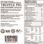 70% Cacao Dark Chocolate Peppermint Piglets Nutrition Label