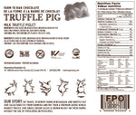 Milk Chocolate Piglet Nutrition Label