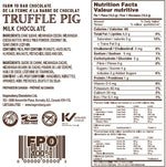 47% Cacao Milk Chocolate Piglets Nutritional Information