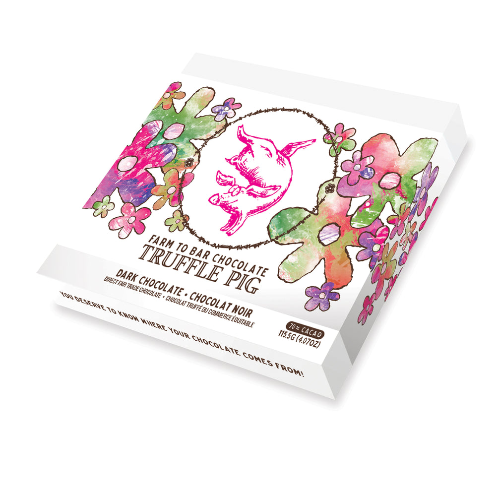 Dark Chocolate Truffle Piglets - Floral Gift Box