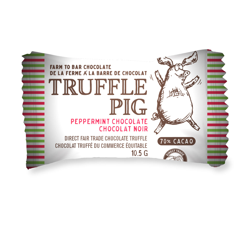 70% Cacao Dark Chocolate Peppermint Piglets