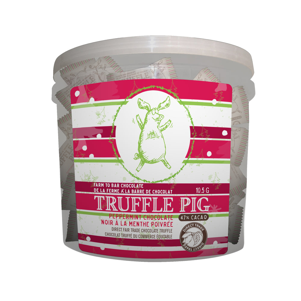 70% Cacao Dark Chocolate Peppermint Piglets Tub