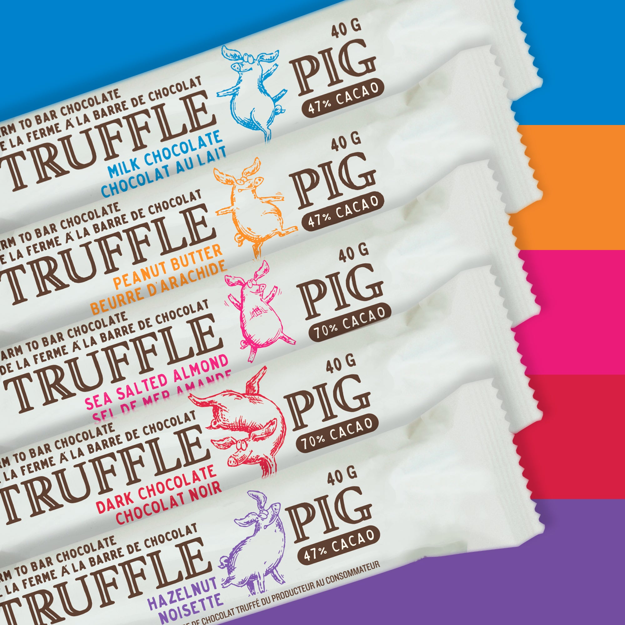 Assorted - 10 Truffle Pig Bars