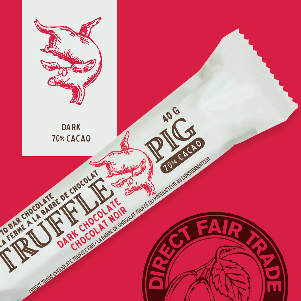 Dark Chocolate Truffle Pig Bar